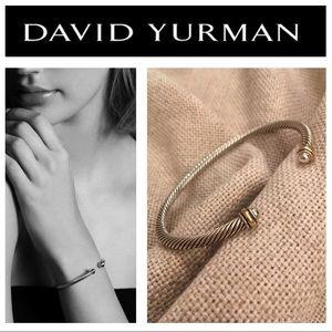 David Yurman 4mm Cable Classics with 18k Gold